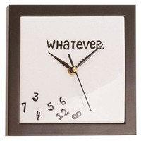 Amazon.com: Whatever Wall Clock: Kitchen & Dining