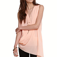 Rehab Peach Drapy Blouse at PacSun.com