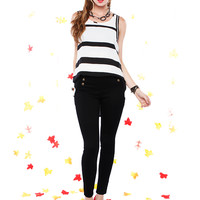 Papaya Clothing Online :: HIGH WAISTED DOUBLE BUTTON UP SKINNY PANTS