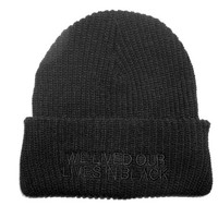 shopwithasianstereotypes: We Lived Our Lives in Black Beanie