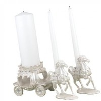 Hortense B. Hewitt Wedding Accessories, Unity Candle Stand, Once Upon a Time, 3 Pieces:Amazon:Home & Kitchen