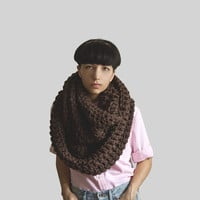 The Pembroke Cowl in Wood Brown
