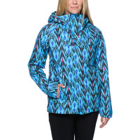 Burton Girls Method Blue Print 10K Snowboard Jacket 2014 at Zumiez : PDP