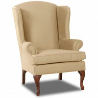 Hereford Custom Wing Back Chair - Floral Sun