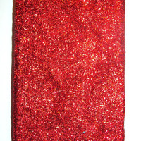 Valentine's Day Red Glitter iPhone 4 4s Hard Cover by kaylafenton