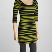 Black & Citron Stripe Dress