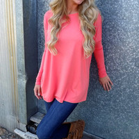 Bright Coral Piko | The Rage