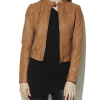 Quilted Faux Leather Jacket | Shop Outerwear at Arden B