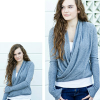 Dimgray Wrap Cardigan [2625] - $25.20 : Vintage Inspired Clothing & Affordable Summer Frocks, deloom | Modern. Vintage. Crafted.