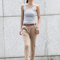 Hot Harem Pants in Khaki - NC382