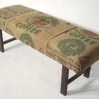 Coffee Sack Bench El Salvador 2 by bDagitzFurniture on Etsy