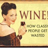 Wine How Classy People Get Wasted Drinking Distressed Retro Vintage Tin Sign:Amazon:Home & Kitchen