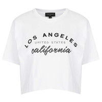 Los Angeles Crop Tee - Jersey Tops - Clothing - Topshop USA