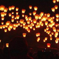 10 Pack Fire Sky Lantern Flying Paper Wish Balloon - Orange: Sports & Outdoors