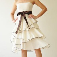 Waft White Cocktail Dress 2 Sizes Avaliable by aftershowershop