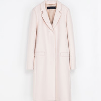 MASCULINE STUDIO OVERCOAT - Coats - Woman | ZARA United States