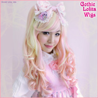 Long Blended Babydoll Lolita - Strawberries & Cream 1G - Gothic Lolita Wigs Store
