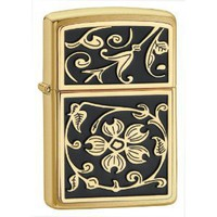 Amazon.com: Zippo Gold Floral Flush Emblem Lighter: Sports & Outdoors