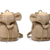 Super Cute Leather Elephant Backpack for School