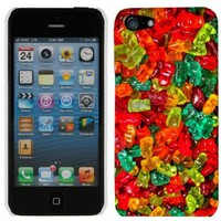 Apple iPhone 5 Multi Color Gummy Bears Hard Case Phone Cover