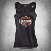 Women's Iconic Bar & Shield Logo Ribbed Tank | Tanks | Official Harley-Davidson Online Store