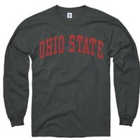 Ohio State Buckeyes Dark Heather Arch Long Sleeve T-Shirt