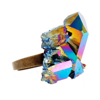 Rainbow Crystal Ring #6