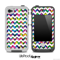 Chevron Pattern With Neon Sprinkles Skin for the iPhone 5 or 4/4s LifeProof Case