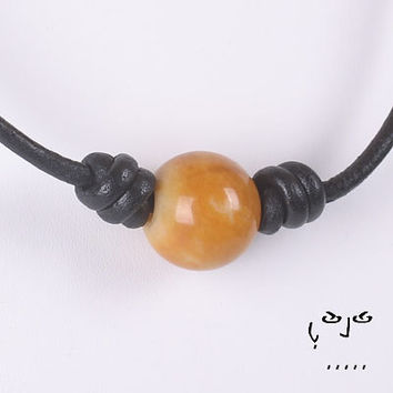 VujuWear Golden Aventurine Sphere Necklace