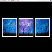 WEEKEND SALE Modern Landscape Tree Print Set by BestArtStudios2