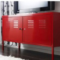 Ikea Red Cabinet Tv Stand Multi-use Lockable