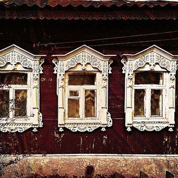 Three Windows. Russian Izba Art Prints by Alexandra Cook - Shop Canvas and Framed Wall Art Prints at Imagekind.com