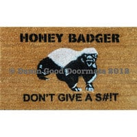 Honey Badger Don&#x27;t Give a St Door Mat by DamnGoodDoormats