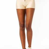 High-Waisted Zipper Shorts