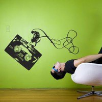 Wall sticker music tape wall art graphic decals original stickers idea by Hu2 Design