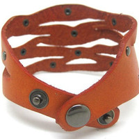 fashion cool leather jewelry cuff bracelet women by braceletcool