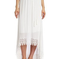 Testament Women's High Low Maxi Skirt
