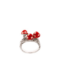 Calourette Mushrooms Ring at asos.com