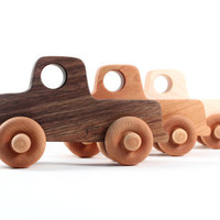 organic toy truck a natural wooden toy and by SmilingTreeToys