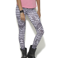 White & Black Tribal Seamless Legging | Shop Just Arrived at Wet Seal