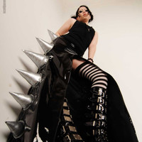 Devil girl SPIKE SKIRT pvc gothic