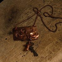 Graffiti Line copper necklace by WillowRockDesigns on Etsy