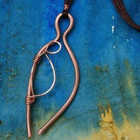 Mother and child necklace of hand forged by WillowRockDesigns