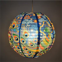 BlueQ Peacock Paper Lantern