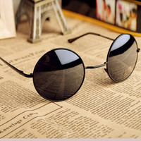 Thin Bar Round Sunglasses e95 D