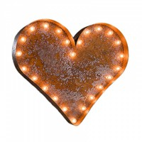 Heart Vintage Marquee Light