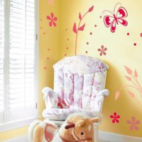 Fluttering Rosetta Wall Decal - Wonderful Set of Floral Decors - Wall Decals | My Wall Decal Shop | Decorating Ideas &amp; Wall Stickers