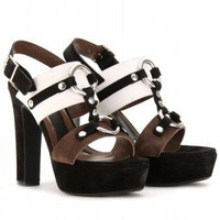 mytheresa.com - Marni Edition - SUEDE PLATFORM SANDALS - Luxury Fashion for Women / Designer clothing, shoes, bags