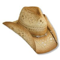 Amazon.com: Western Cowgirl Hat with Glass Beads by Dorfman Pacific: Clothing