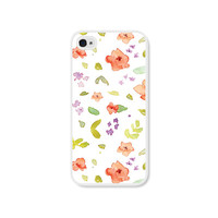 Peach Floral iPhone Case - iPhone 5 Case - iPhone 5 Cover - iPhone 5 Skin - Coral Pink Pastel Flowers iPhone 5 Case
